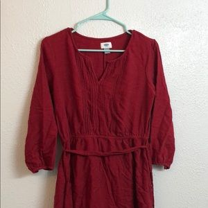 Red bohemian style dress